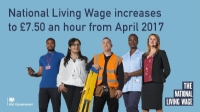 What are the changes to the Living Wage and the Minimum Wage in April 2017?